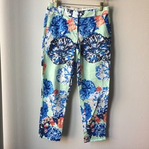 J. Crew Painted Floral Skimmer Pant